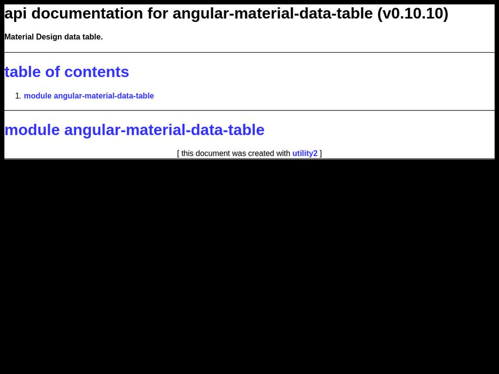 Runkit for Data table material design