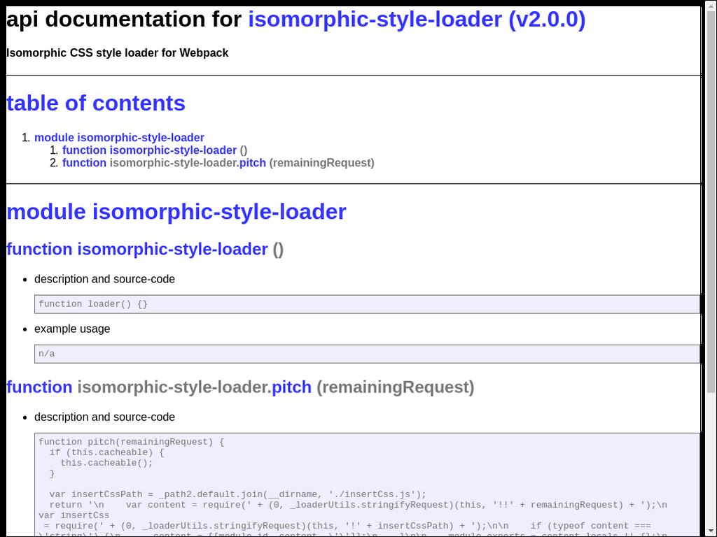 Isomorphic style loader webpack 2